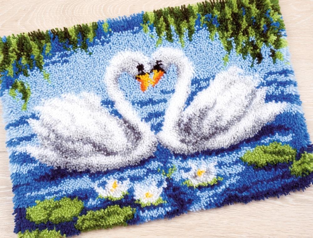 Voorkeur Swan Lake - smyrna tapijt Vervaco - vogels, eenden, kippen  WH85